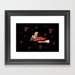 Mushroom Space Framed Art Print
