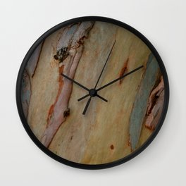 Eucalyptus tree bark Wall Clock