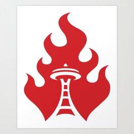 Seattle Riot | Flame Art Print
