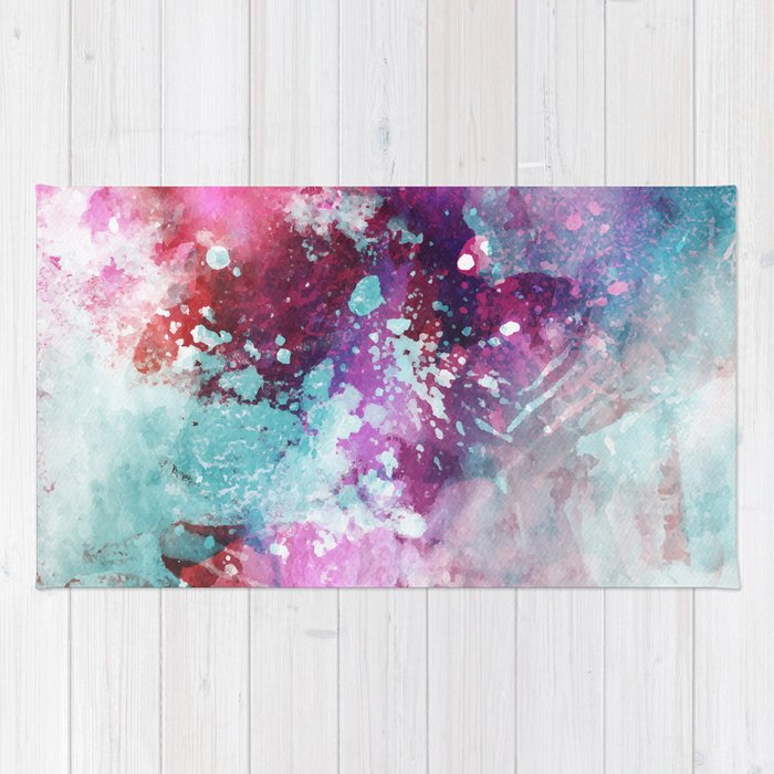 Watercolor Pattern Rug
