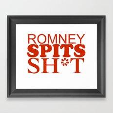 Romney spits sh*t Framed Art Print