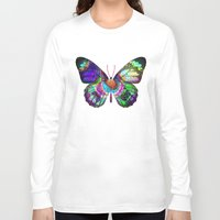 lsd Long Sleeve T-shirts featuring LSD butterfly by Pink Eyed Paranoia