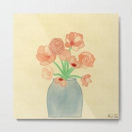Serene Flowers Metal Print