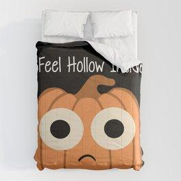 I Feel Hollow Inside-Black Comforters