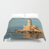 lighthouse Duvet Covers featuring Lighthouse by Sylvia C
