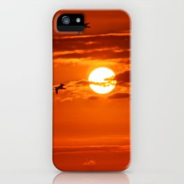 Red Sunset2 False Bay iPhone Case