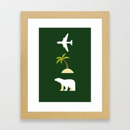 Iconic TV Shows: Lost Framed Art Print