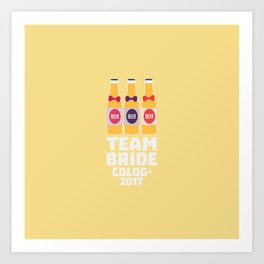 Team Bride Cologne 2017 T-Shirt Dpn32 Art Print