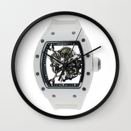 Richard Mille Mens RM 055 Canvas White Dial B.Luvid Wall Clock