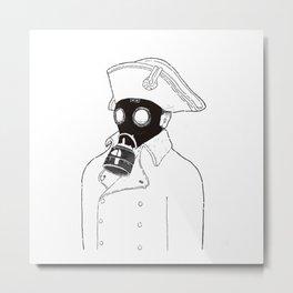 Napoleon with a gas mask. Metal Print