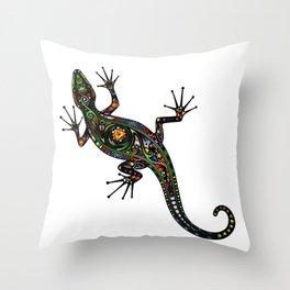 Lézard colors Throw Pillow
