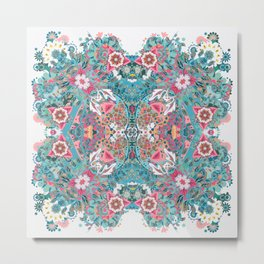 Blossoming Mandala Metal Print