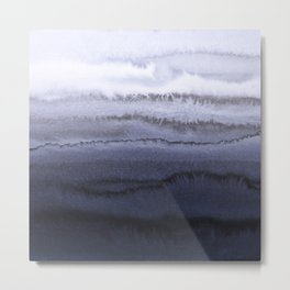 WITHIN THE TIDES BLUE Metal Print