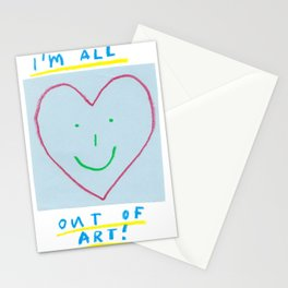 out of art Stationery Cards