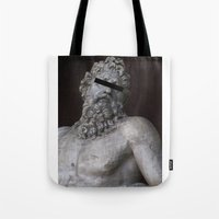 anonymous Tote Bags featuring Anonymous by Logan Amick