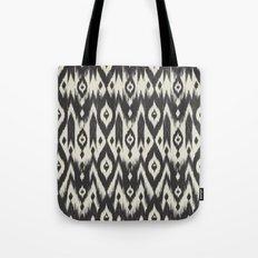 Black & Cream Tribal Ikat Tote Bag