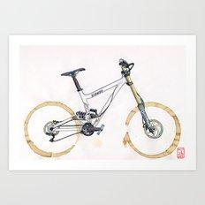 Coffee Wheels #11 Art Print