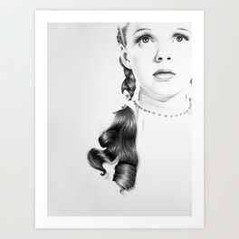 Judy Garland Minimal Drawing Art Print