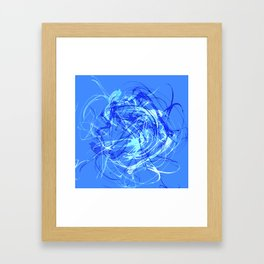 Abstract Blue with Lines Framed Art Print