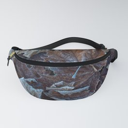 Leaves of the plane trees in winter Fanny Pack