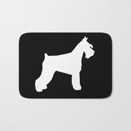 Schnauzer silhouette dog breeds custom dog lover t shirt minimal Bath Mat