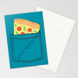 Emergency supply - pocket pizza Stationery Cards
