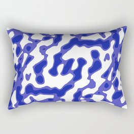 Bright Abstract Camo Pattern Rectangular Pillow