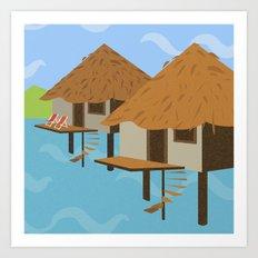 Hut hut Art Print