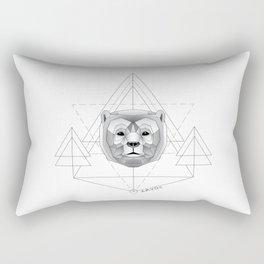 Geometric Bear Rectangular Pillow