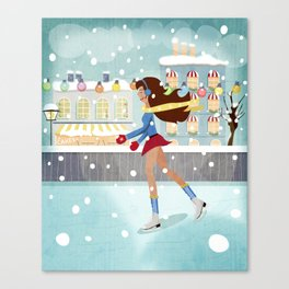 Ice Skating Girl Canvas Print