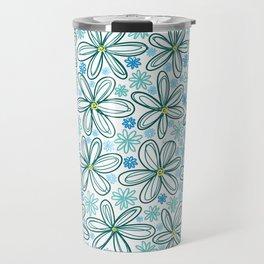 Blue Daisies Travel Mug