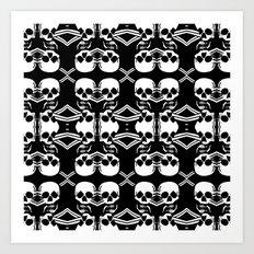 Saber Skulls Art Print