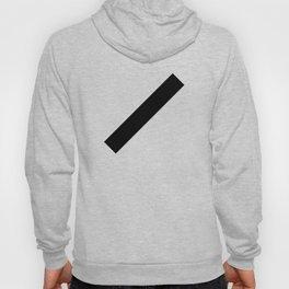 Black bar slanted rectangle — Modern minimal geometric art — Contemporary abstract minimalist design Hoody