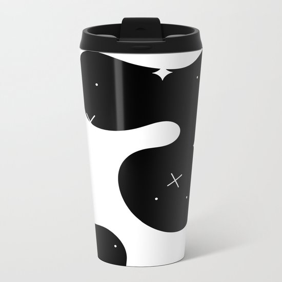 Space blobs Metal Travel Mug