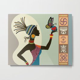 Afrocentric Chic I Metal Print