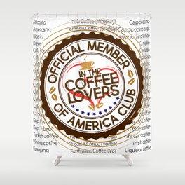 Coffee Lovers of America Club by Jeronimo Rubio 2016 Shower Curtain