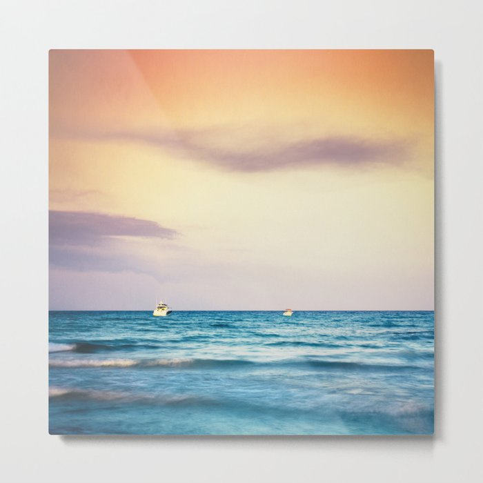 boats on the Mediterranean Metal Print