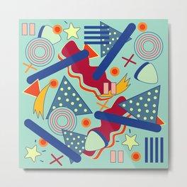 Retro abstract art Metal Print