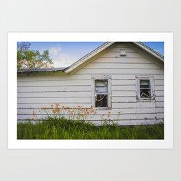 Farmhouse Lilies, North Dakota 2 Art Print