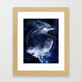 Two Wolves Framed Art Print