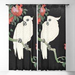 Cockatoo and Pomegranate by Ohara Koson (1877-1945) Blackout Curtain