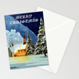 Merry Christmas Greetings Card Stationery Cards