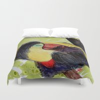 toucan Duvet Covers featuring Toucan by Pendientera