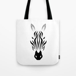Black And White Zebra Tote Bag