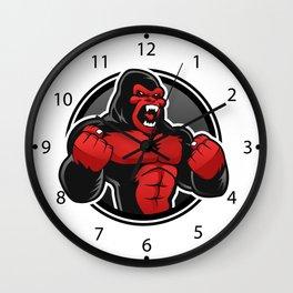 Angry big gorilla Wall Clock