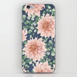 Dahlias & Silver dollars pattern iPhone Skin