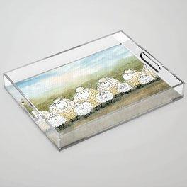 Lambinated Acrylic Tray
