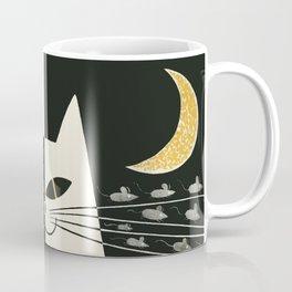 Vintage Black and White Cat Coffee Mug
