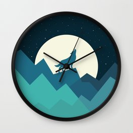 Keep The Wild In You Wall Clock