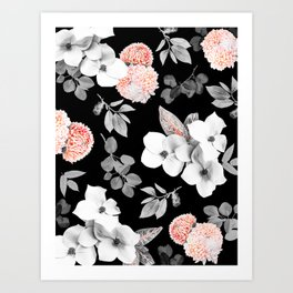 Night bloom - moonlit flame Art Print